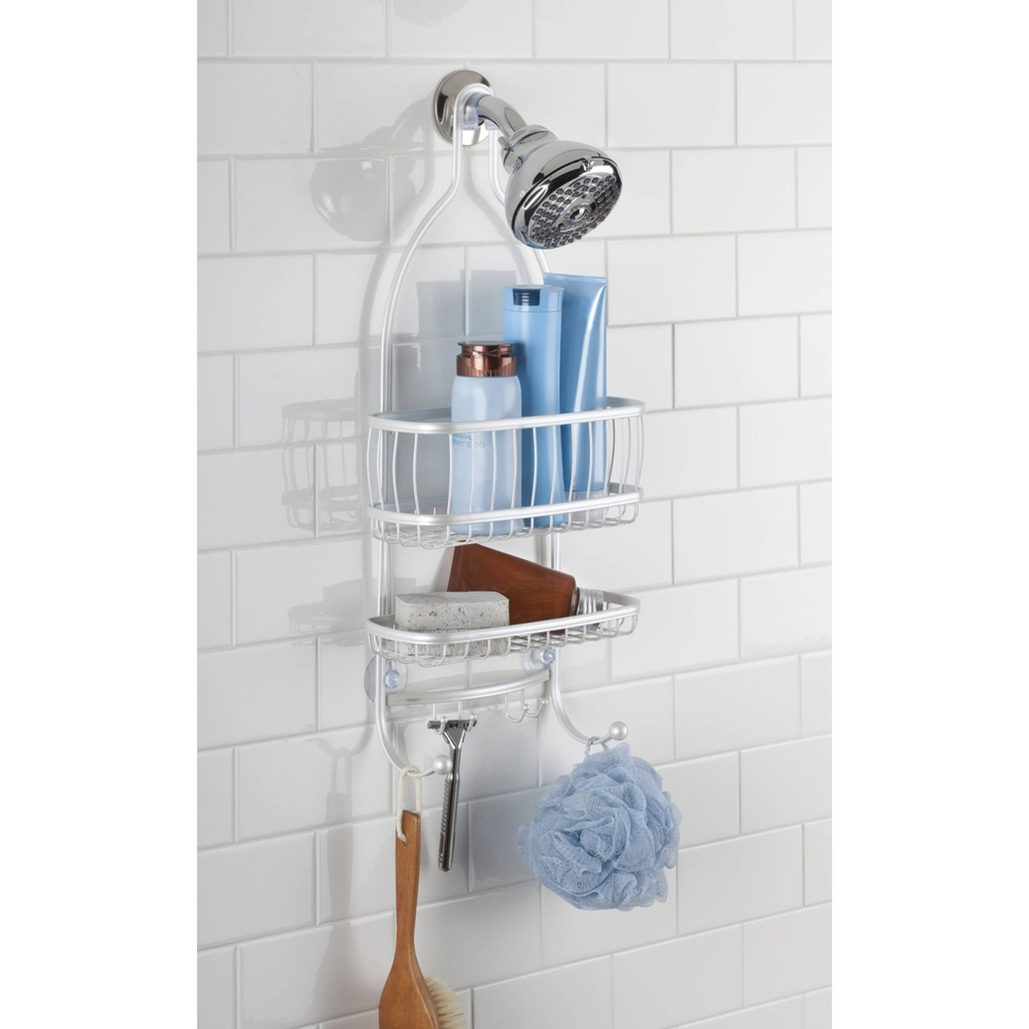 InterDesign York Lyra Bathroom Shower Caddy, Pearl White by Generic