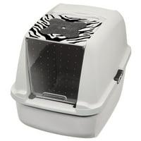 Catit White Tiger Jumbo Pan, White/Black