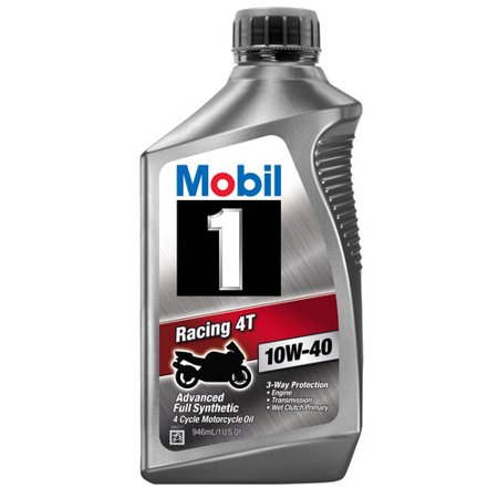 Mobil 1 10W-40 Full Synthetic Motorcycle Oil, 1 (1 Quart Bouncer)