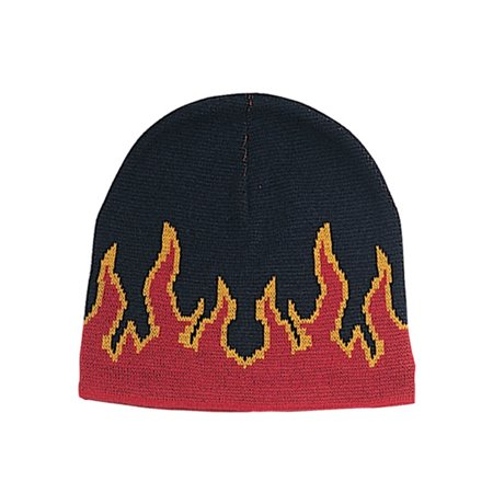 FLAME ON FLEECE BEANIE CAP