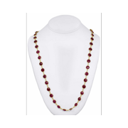 14 Karat Yellow Gold over Silver Created Ruby Necklace
