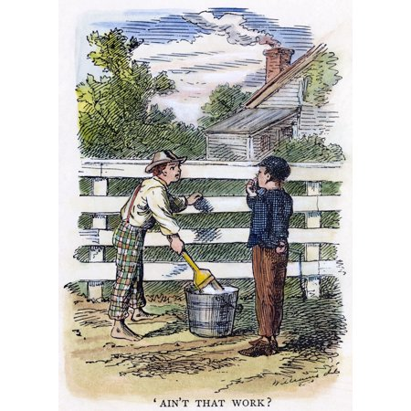 Clemens Tom Sawyer 1876NAinT That Work The Immortal Incident Of Whitewashing The Fence Drawing By True Williams From The First Edition Of The Adventures Of Tom Sawyer By Samuel Langhorne Clemens (The Adventures Of Tom Bombadil First Edition)