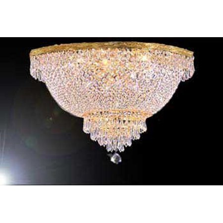 Crystal Semi Flush Chandelier (French Empire Crystal Semi Flush Chandelier Lighting H18