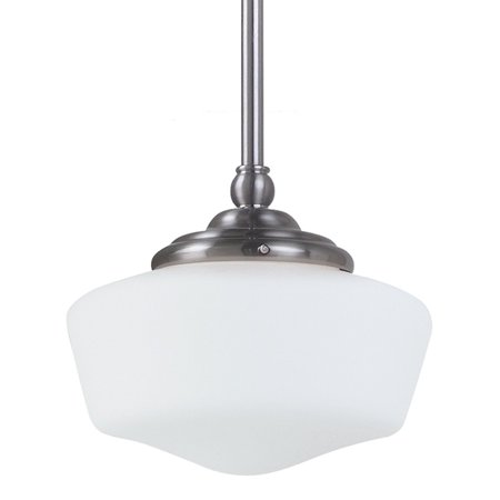 Sea Gull Lighting Academy 1-Light Small Pendant - 6.75W in. Brushed Nickel - Small