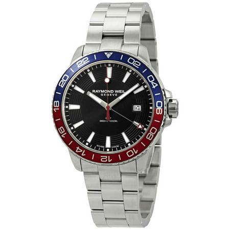 Raymond Weil Tango Black Dial Pepsi Bezel Men's Watch 8280-ST3-20001