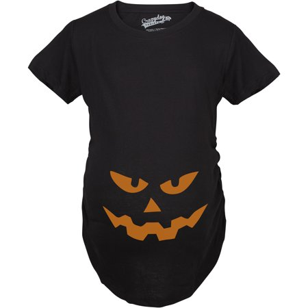 Maternity Triangle Nose Pumpkin Face Halloween Pregnancy Announcement T shirt (Creative Halloween Pregnancy Announcements)