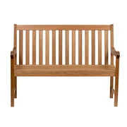 Amazonia Milano Patio Bench 4-Feet | Eucalyptus Wood | Ideal for Outdoors and Indoors