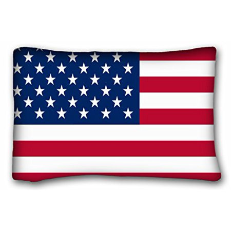 WinHome Usa American Flag The Stars And Stripes Custom Zippered Bed Pillow Case Cases Cover Cushion Covers Sofa Size 20x30 Inches Two Side ()