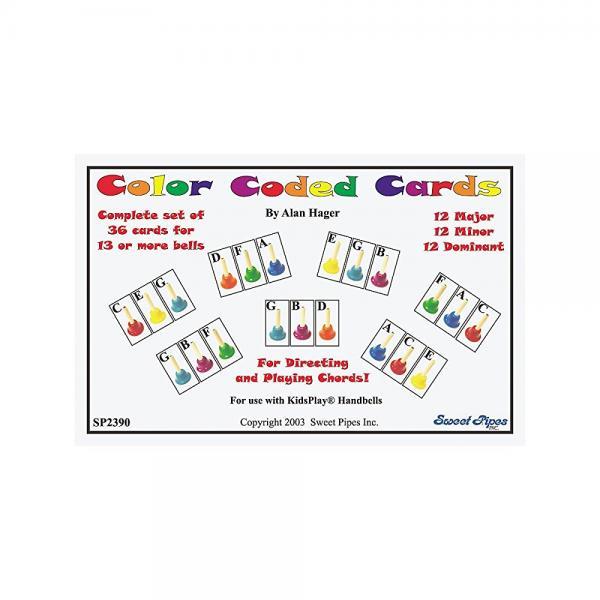 Rhythm Band Color Coded Handbell Cards 36 Chords by