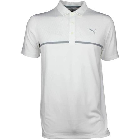 NEW Puma Nardo Dry Cell Bright White/Grey Golf Polo Men's XX-Large (XXL) - New Puma Cell