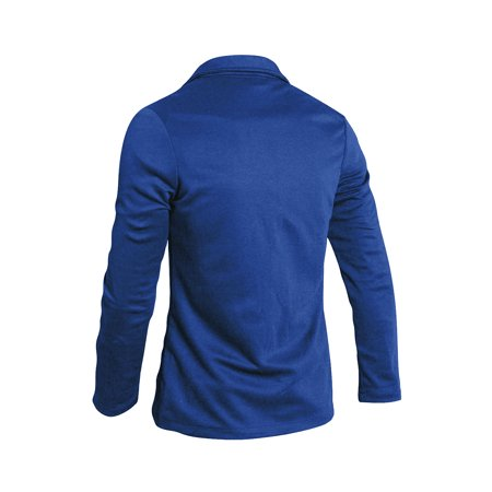 Mens Simple Two Pockets Front Two Buttons Long Sleeve Blazer Royal Blue S - image 5 of 7