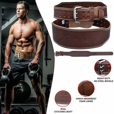 RDX Cow Hide Leather Training Weight Lifting Belt Back