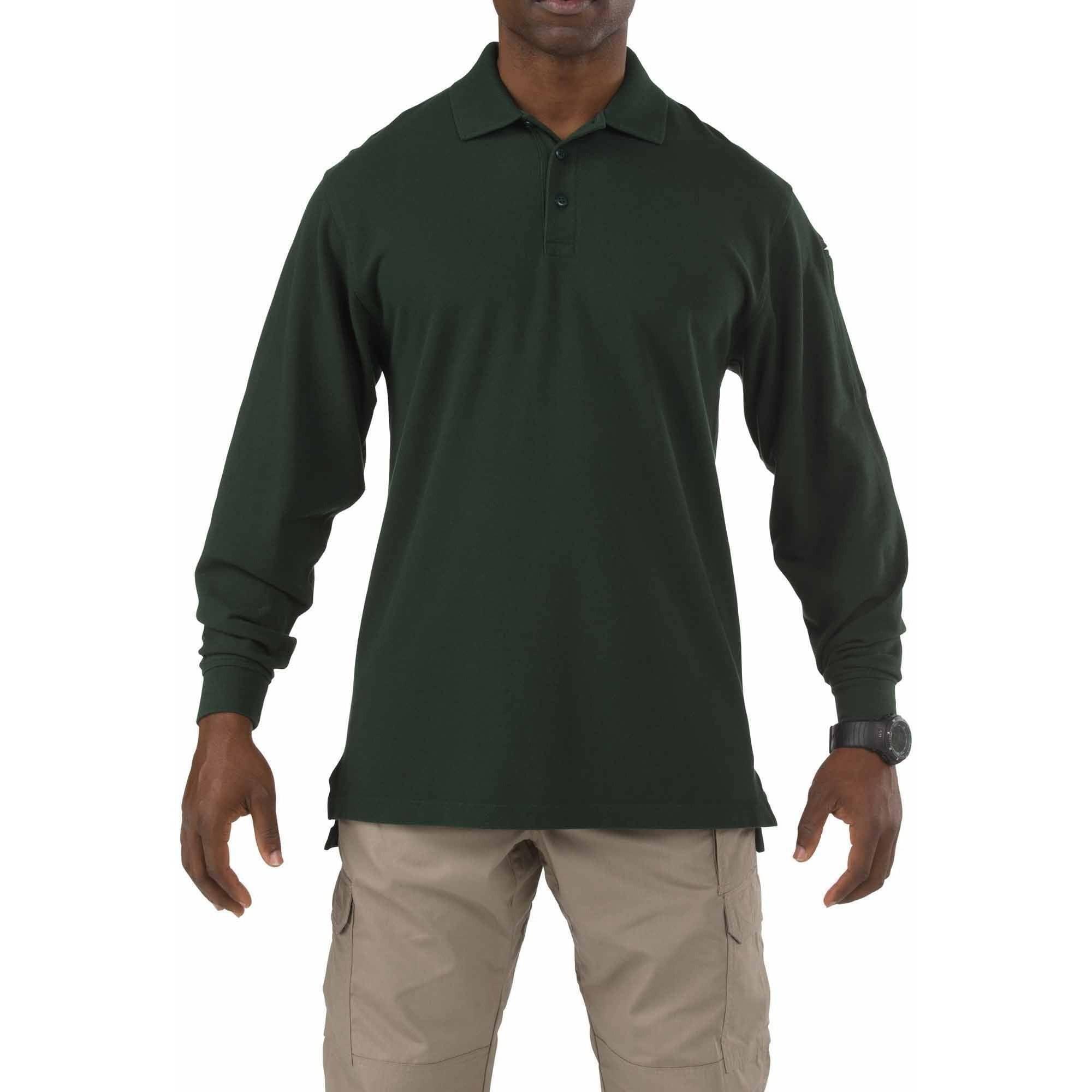 Long Sleeve Professional Polo Shirt, LE Green