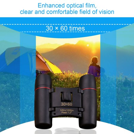 OUTAD 30x60 HD Binoculars Wide Angle 126m/1000m Night Vision Travel Binoculars - image 4 of 6