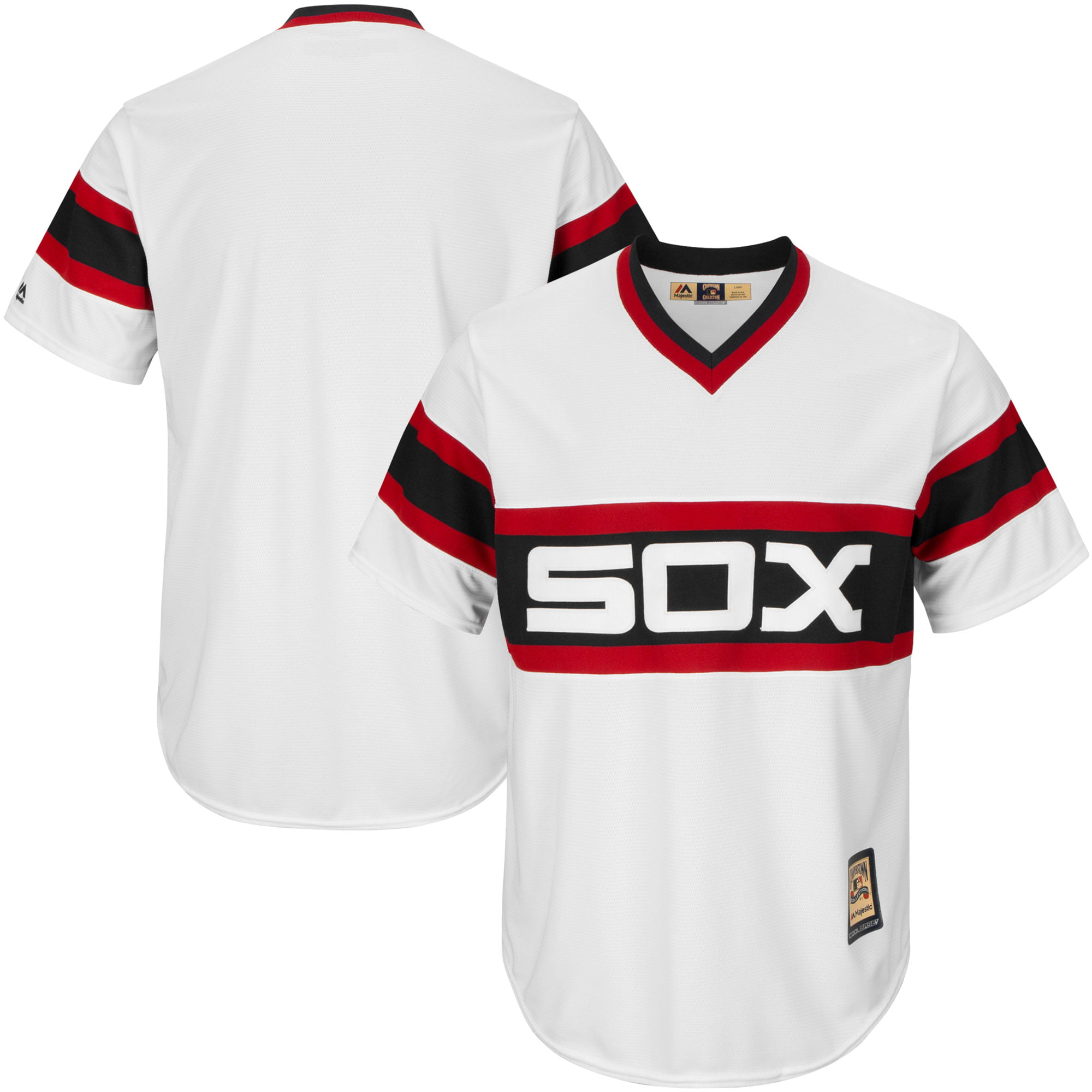 Chicago White Sox Majestic Big & Tall Cooperstown Cool Base Jersey White by Profile