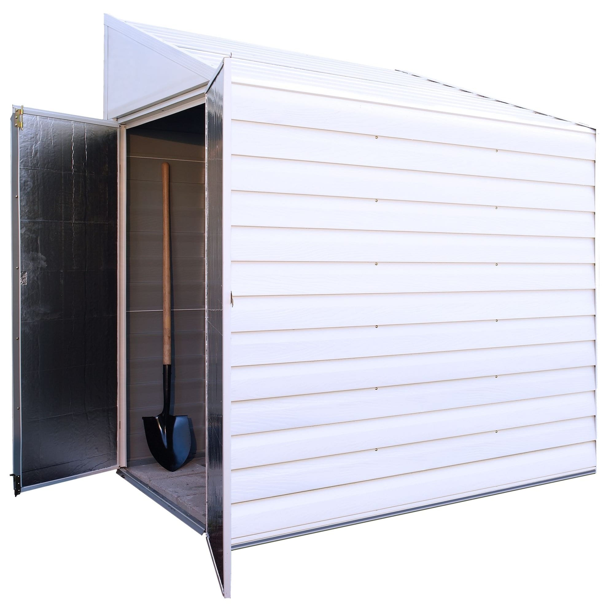 ARROW SHEDS YS47 Outdoor Storage Shed 26 cu ft Eggshell G