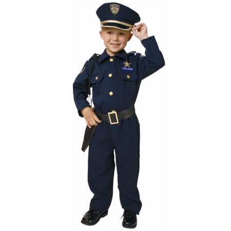 Toddler Deluxe Police Officer - Girl Police Officer Halloween Costume
