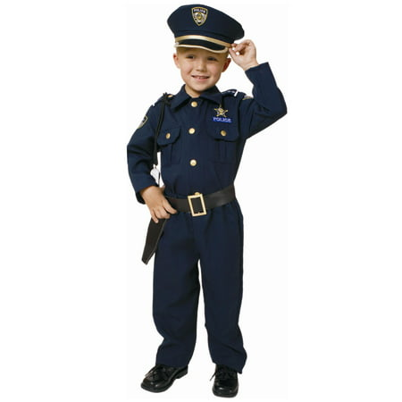 Toddler Deluxe Police Officer - Toddler Chucky Bride Costume