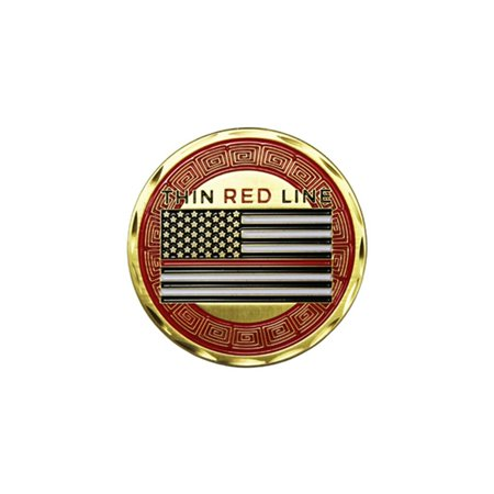 Fire Department Rescue Thin Red Line Double Sided Collectible Challenge Coin