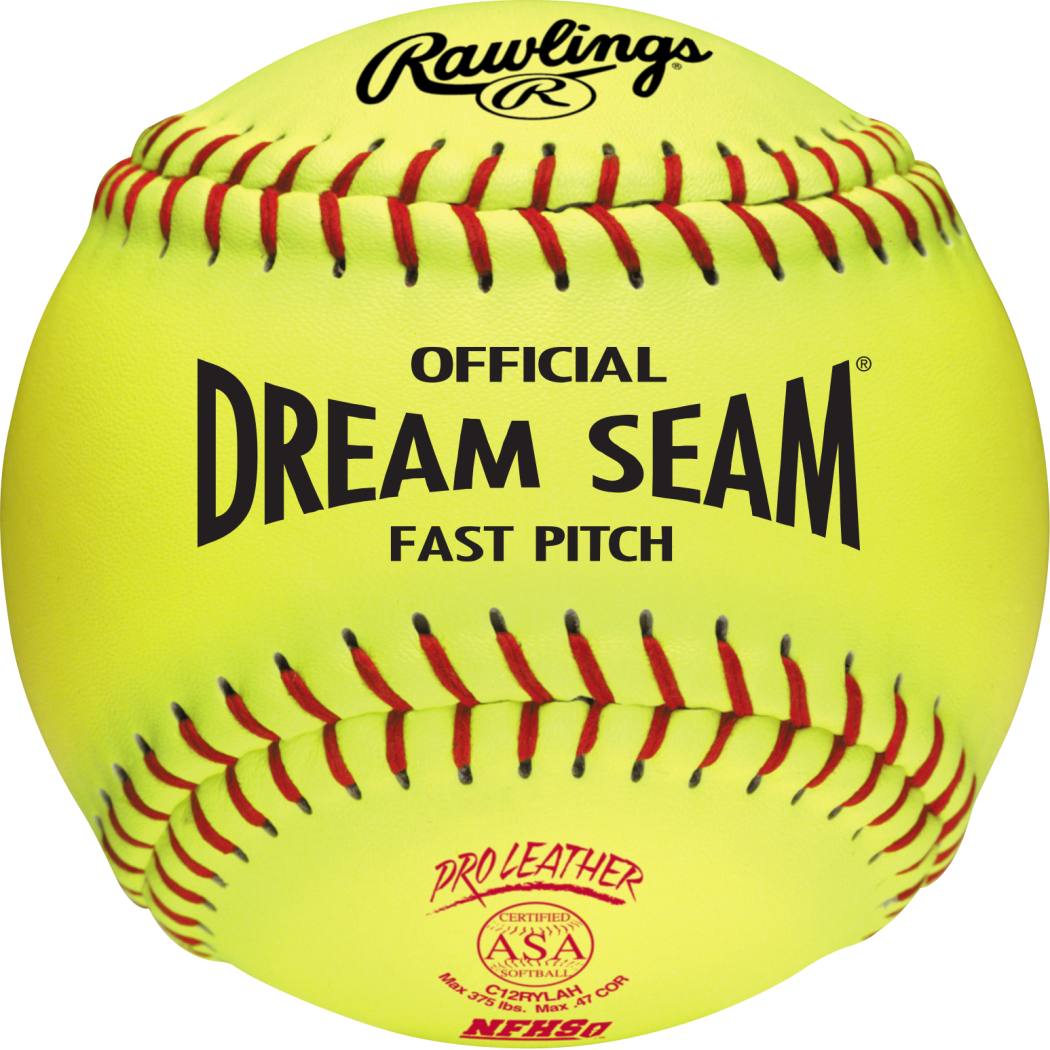 Rawlings Sporting Goods Official ASA Dream Seam Fast Pitch Softballs (One Dozen), Yellow, Size 12 by Rawlings