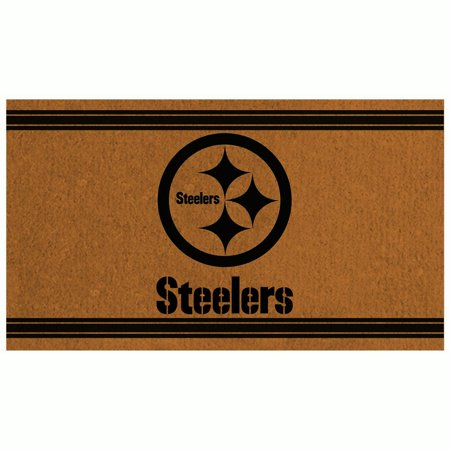 Pittsburgh Steelers 30'' x 18'' Logo Turf Mat - Brown - No Size