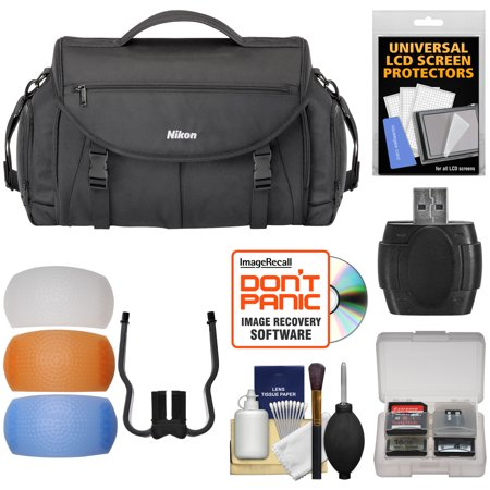 Limited Offer Nikon 17008 Large Pro DSLR Camera Bag with Diffuser Filter Set + Kit for D3200, D3300, D5300, D5500, D7100, D7200, D610, D750, D810 Before Too Late