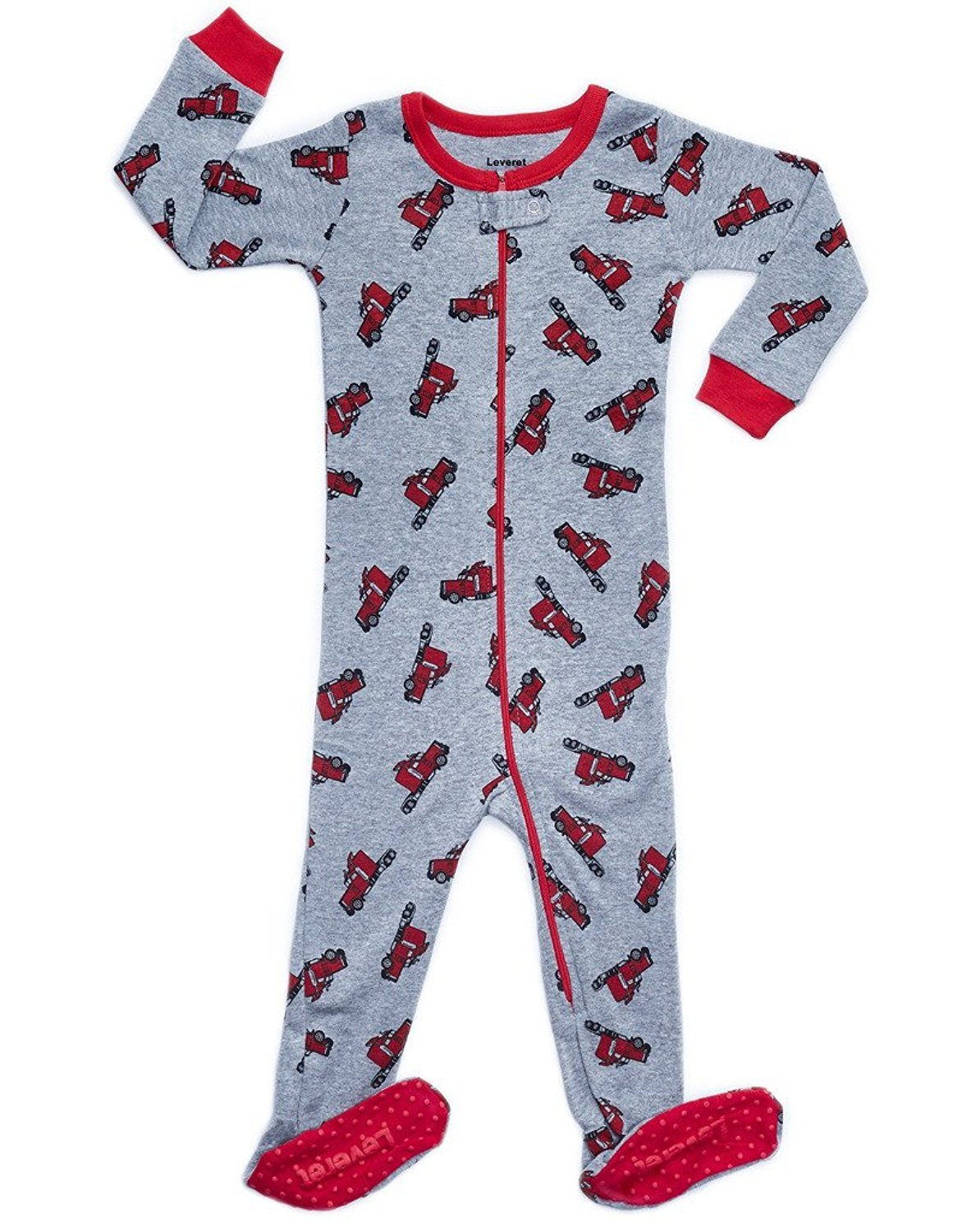 Leveret Trailer Footed Pajama Sleeper 100% Cotton 4 Years