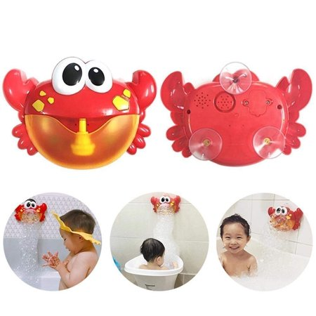 Bubble Machine Big Crab Automatic Bubble Maker Blower Music Bath Toy for Baby](Fog Bubble Machine)