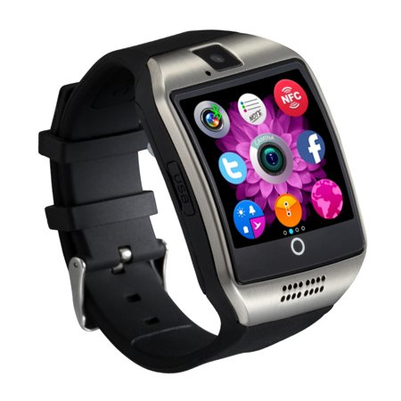Silver Bluetooth Smart Wrist Watch Phone mate for Android Samsung Touch  Screen Blue Tooth SmartWatch with Camera for Adults for Kids (Supports  [does