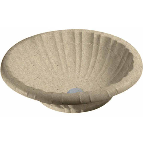 "Swan TR-1815IS-010 Islandia 15"" x 18"" Composite Oval Vessel Sink, Available in Various Colors"