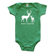 Rocket Bug Baby Daddy's Little Doe Bodysuit Green 6-12m