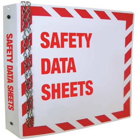 33H546 MSDS Binder, Red on White