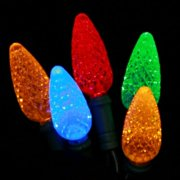 Christmas at Winterland S-70C65M-4G 23 Foot String of C6 Multicolor C6 LED Light