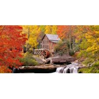 USA West Virginia Glade Creek Grist Mill Babcock St Park Canvas Art - Panoramic Images (25 x 12)