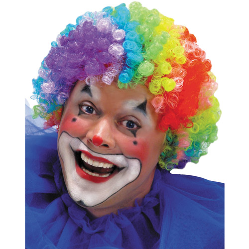 7-Color Clown Wig Adult Halloween Accessory
