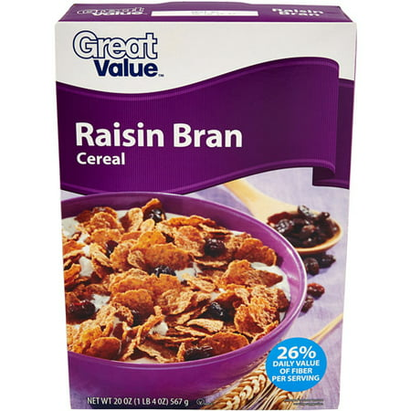 Great Value Raisin Bran Cereal, 20 oz