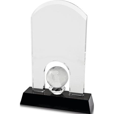 Award Glass Globe (Optic Glass Domed Globe Award)