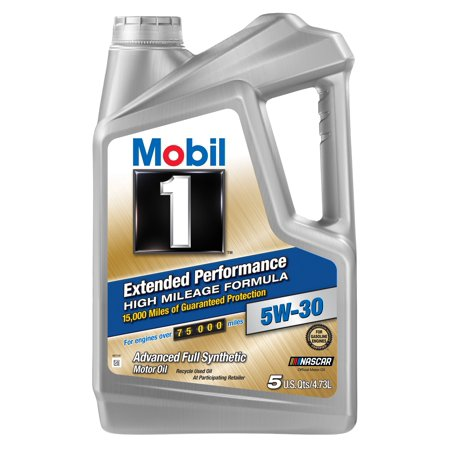 (6 Pack) Mobil 1 Extended Performance High Mileage Formula 5W-30 Motor Oil, 5