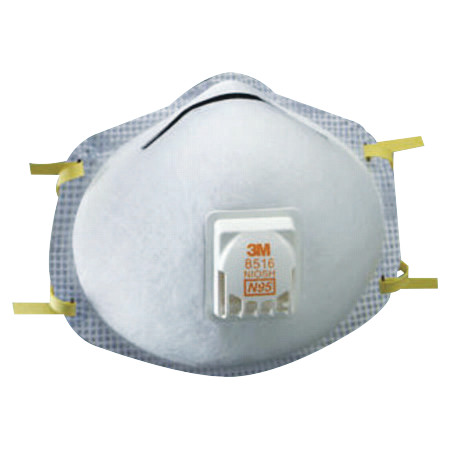 N95 Particulate Respirators, Half Facepiece, Two adjustable straps, 10/bx