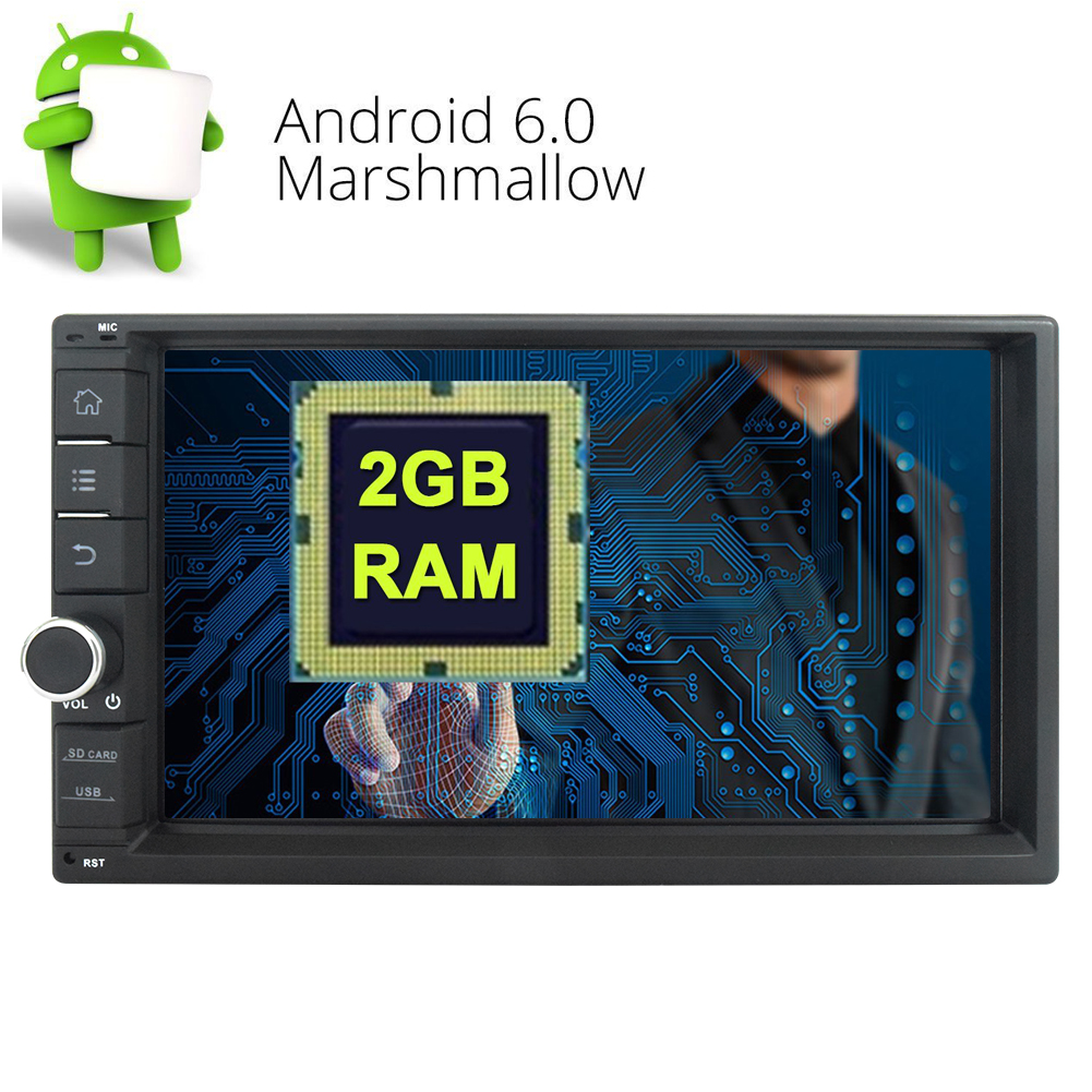 Android 6.0 Marshmallow Car Radio Stereo With 2GB RAM Qua...