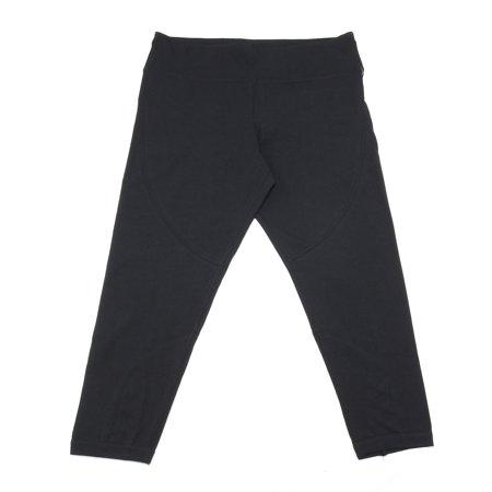 Calvin Klein Womens Size X-Large Criss Cross Leg Yoga Pants, Black