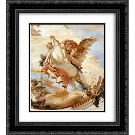 Giovanni Battista Tiepolo 2X Matted 20X24 Black Ornate Framed Art Print Bellerophon On Pegasus  Detail  1