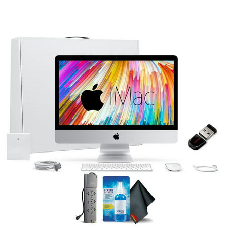 Apple iMac 21.5 Inch, 3.4GHz Intel Core i5, 8GB RAM, 1TB Fusion Drive, Silver Office Bundle With