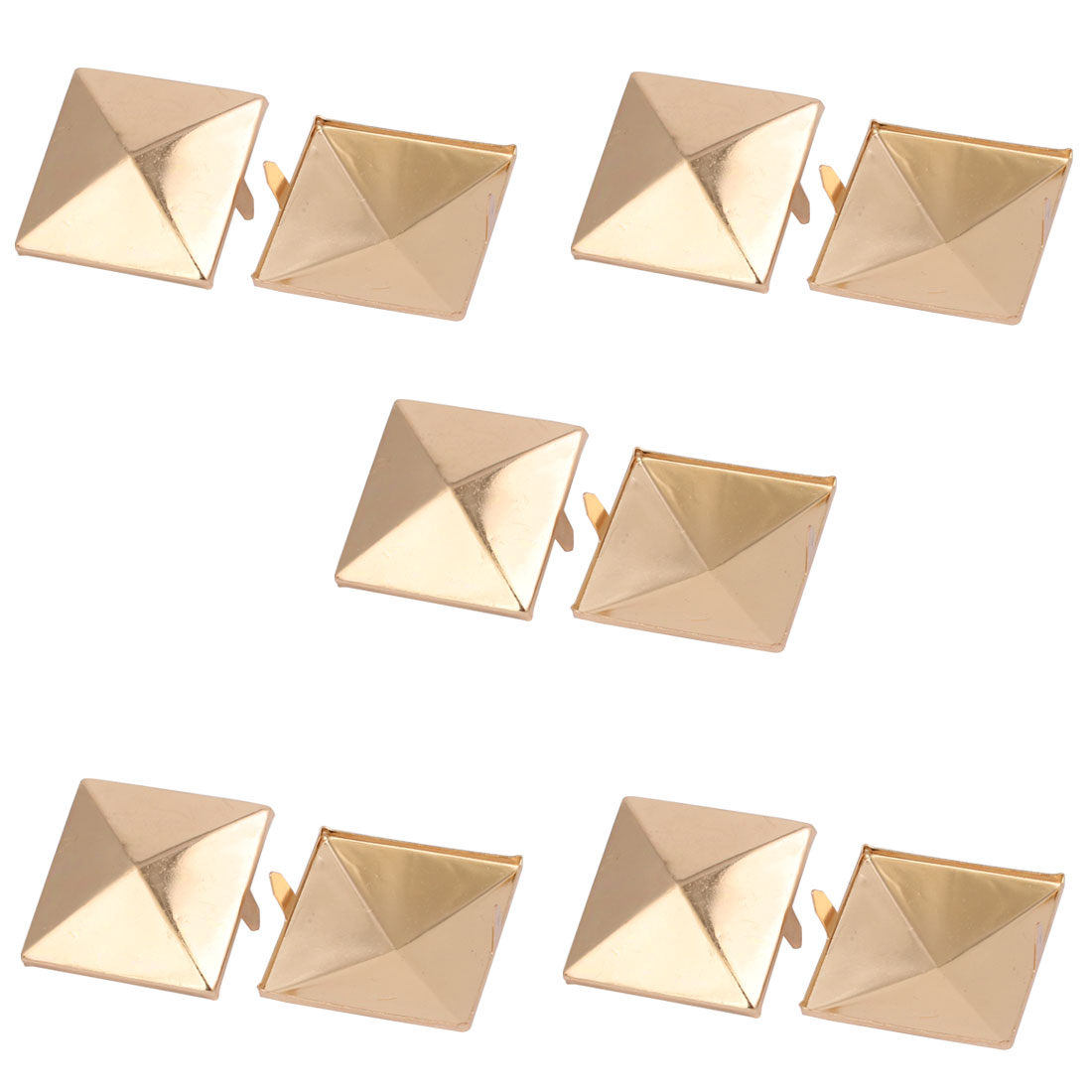 Unique Bargains 10pcs 35mm Square Shaped Paper Brad Light Gold Tone for Scrapbooking DIY Craft - image 2 de 2