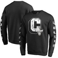 6dc7a029225913 Product Image Chicago Bulls Fanatics Branded Letterman Fleece Crew Neck  Sweatshirt - Black