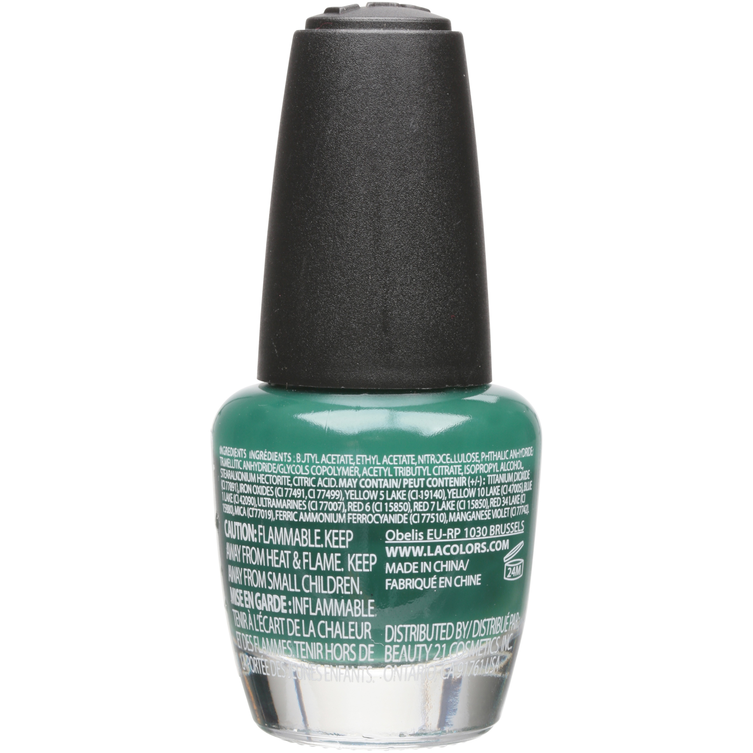 L.A. Colors Color Craze Nail Polish with Hardeners, Timber, 0.44 oz ...