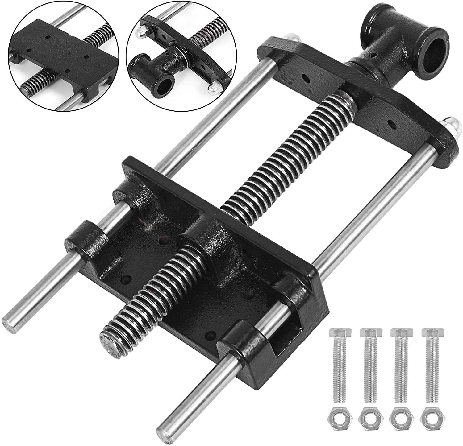 Mophorn 7 Inch woodworking bench vise Front Screw Vise for Workbench Cast Iron Leg Vise Hardware Woodworking