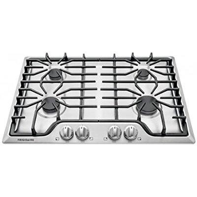 - frigidaire ffgc3026ss 30 gas sealed burner style cooktop with 4 burners, ada compliant in stainless steel
