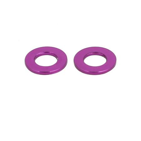 20pcs 0.5mm Thickness M3 Aluminum Alloy Flat Fender Screw Washer Purple - image 2 of 2