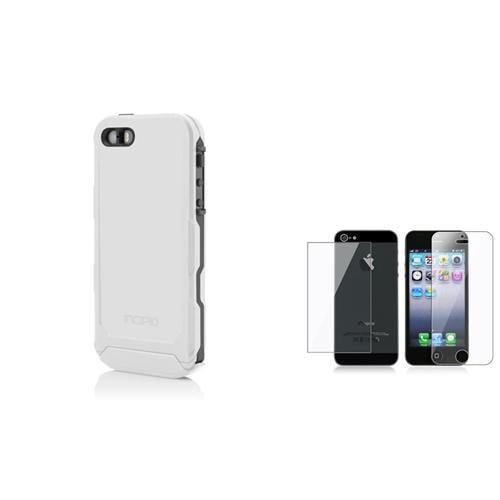 Incipio White/Gray Atlas ID Case Cover+Full Body Protector For Apple iPhone 5 5S